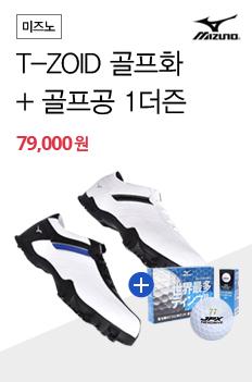 미즈노 T-ZOID 골프화 + 골프공 1더즌