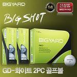 빅야드 BIG YARD GD-화이트 2PC 골프볼