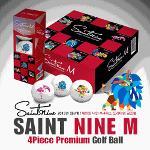 [2013년신제품-4피스]SAINT NINE M 세인트 나인 M 칼라캐릭터 우레탄캐시팅공법 프리미엄 4피스 골프볼(12알)