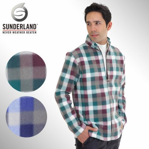 [Sunderland Of Scotland] 선덜랜드 남성 풀집업 인웨어/아웃웨어 체크무늬 폴라폴리스 점퍼 - 16341WB02