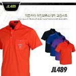 이중카라 레인보우스티치 고급셔츠 style No_JL489