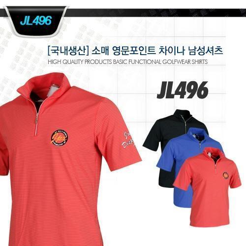 ☆이메일특가☆ 1+1[국내생산] 소매 영문포인트 차이나 남성셔츠 style No_JL496