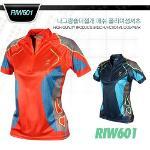 나그랑숄더절개 매쉬 폴리여성셔츠 style No_RIW601