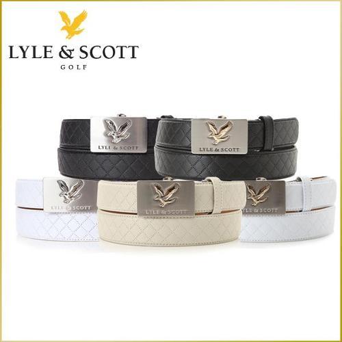 라일앤스콧 LYLE & SCOTT 남성 최고급 소가죽 실버/골드 로고버클 퀄팅무늬 자동벨트 - CL9VFBE/CL9CSBE