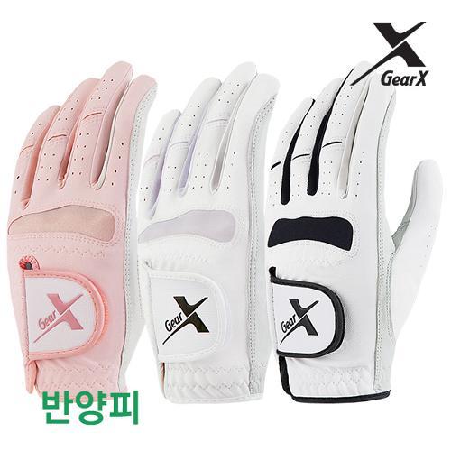 [기어엑스]골프장갑-남자 여성 반양피 2장