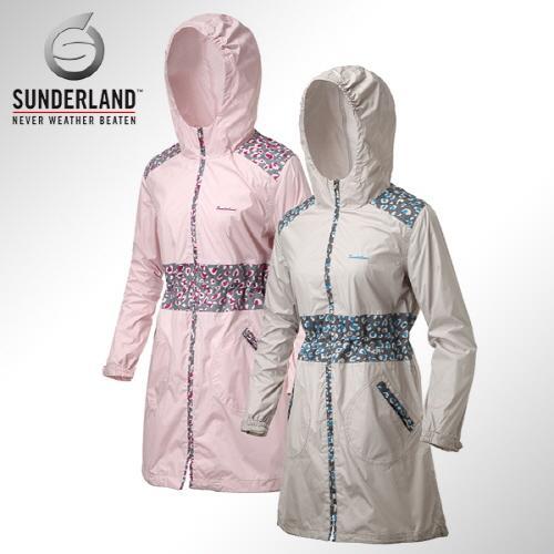 [Sunderland In The Rain] 선덜랜드 여성 최고급 완벽방수 심실링처리 부분 호피무늬 레인코트/사파리비옷 - 16412RC24