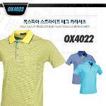 옥스피아 스트라이프 태그 카라셔츠 style No_OX4022