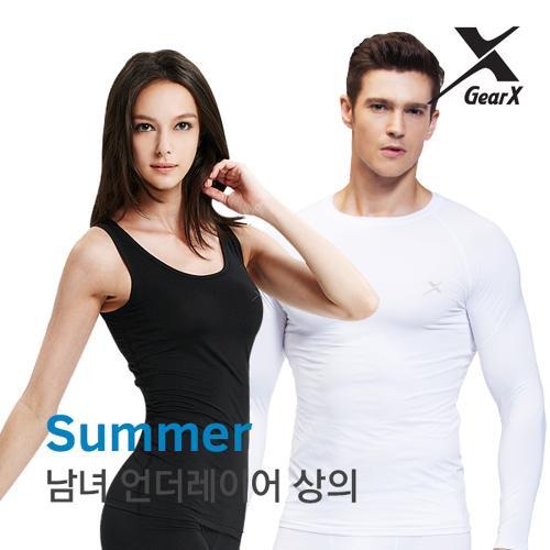 [기어엑스]냉감 언더레이어-일반 여름용 상의-남자 여성