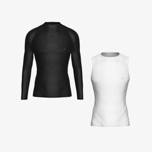 [기어엑스]냉감 언더레이어-고급 여름용 상의-남자 여성