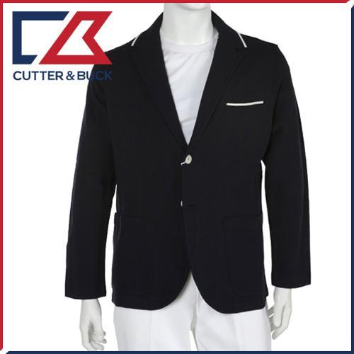 커터앤벅 남성 고급 면니트소재 부분배색 투버튼 자켓 - FD-1221-106-04