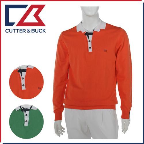 커터앤벅 남성 니트소재 배색포인트 변형카라 긴팔스웨터 - FD-1221-102-11