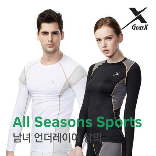 [기어엑스]언더레이어-일반 사계절용 스포츠 상의-남자 여성
