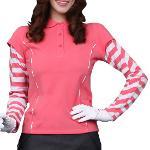 [오클리/훠리스트정품] 여성 골프 상의 GLASSY L/S POLO  coral pink / 70%OFF