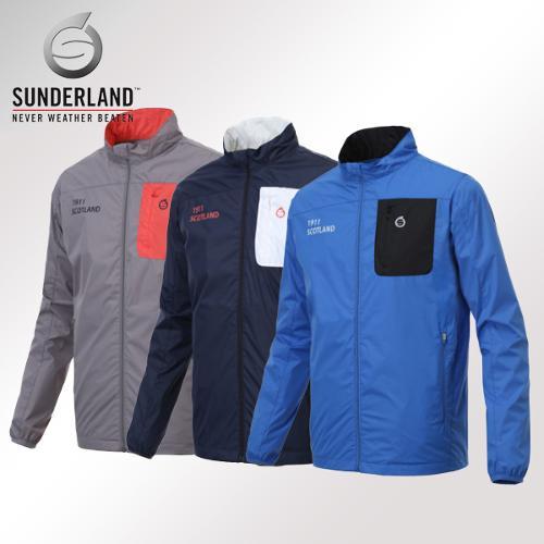 선덜랜드 남성 최고급 완벽방수 패치포인트 방풍 레인자켓/비옷 겸용 바람막이 - 16511WR01
