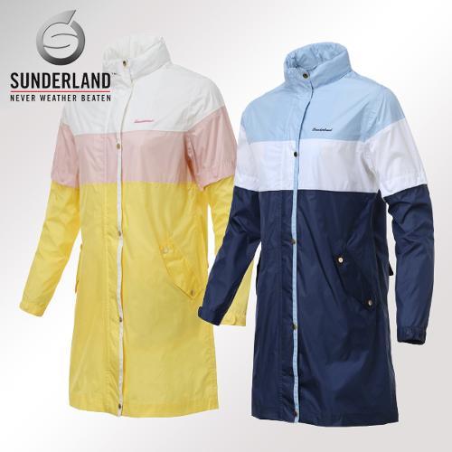 선덜랜드 여성 최고급 완벽방수 심실링처리 소매탈부착 레인코트/사파리비옷(후드삽입형) - 16512RC01