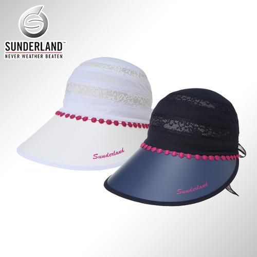 [Sunderland Of Scotland] 선덜랜드 여성 레이스 포인트 부분망사 UV 썬캡 - 16512CP25