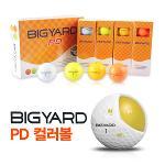 [빅야드] BIGYARD PD 컬러골프공[오렌지/2피스/12알]겨울골프용품/필드용품 [오렌지색 컬러볼]