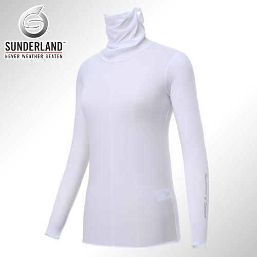 [Sunderland Of Scotland] 선덜랜드 여성 냉감 스판소재 귀달이 마스크 목폴라 티셔츠 - 16512TS24