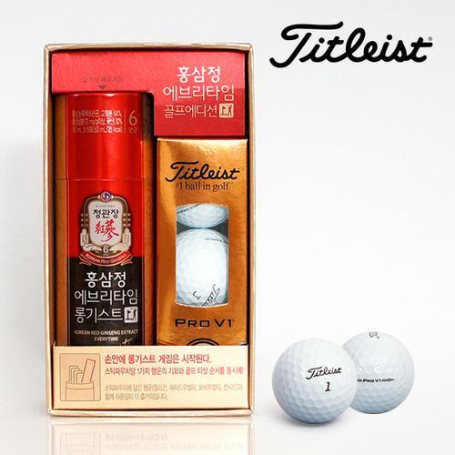 정관장 홍삼정 에브리타임 롱기스트 골프에디션 3구 TYPE TiTleist Pro-V1 타이틀리스트 프로브이원 골프공