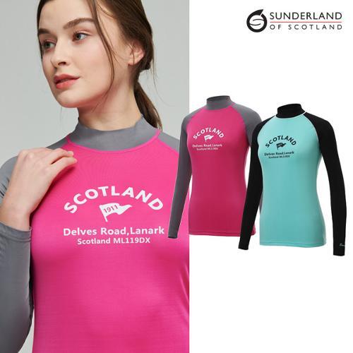 [Sunderland Of Scotland] 선덜랜드 여성 오드람프 봉재 스판소재 스포티 래쉬가드 - 16512TS30