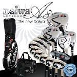 [Daiwa/다이와][正品/名品]ONOFF NEW A8 ADVISOR 포지드 티타늄 프리미엄 스틸/카본 골프풀세트+캐디백세트