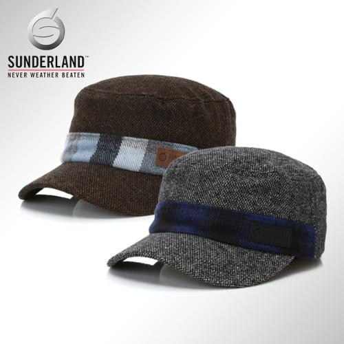 [Sunderland Of Scotland] 선덜랜드 남성 겨울 방한 울소재 군모스타일 속귀마개 모자 - 16541CP23