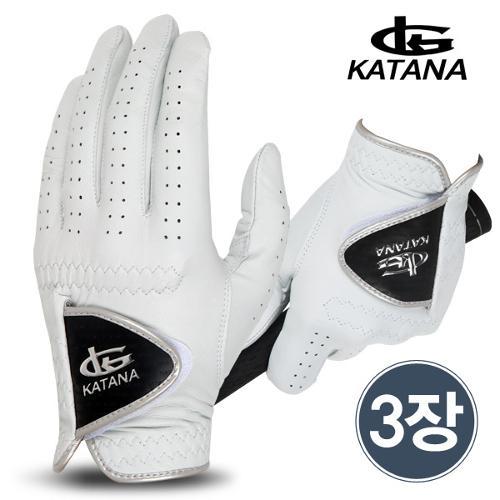 [마켓][카타나 정품](3장 1세트) 카타나 (KATANA)남성용 골프장갑(양피)/골프용품/필드용품
