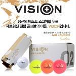 [팬텀 골프 비전 정품] VISION 에어런치 2피스 골프공 컬러볼 1다즌 12알