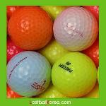 동절기 형광 칼라볼 혼합 B+급 50개 로스트볼