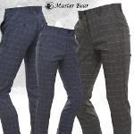 [MASTER BEAR] 마스터베어 사각체크 남성 골프팬츠 Model No_M1-5B529