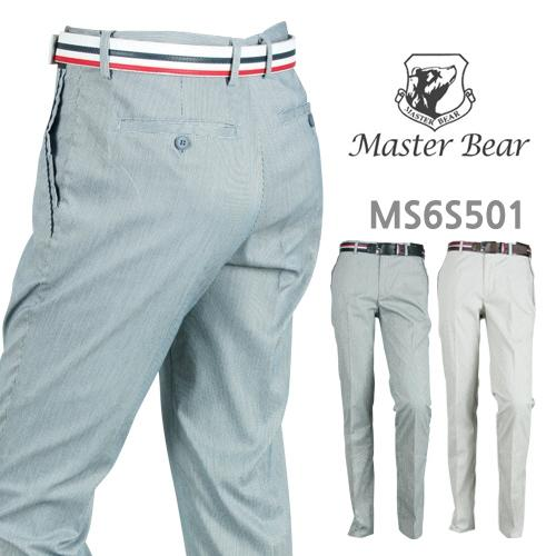 마스터베어 잔체크 스판 골프바지 MS6S501