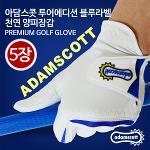 [아담스콧] 투어에디션 블루라벨 천연 양피장갑 5장