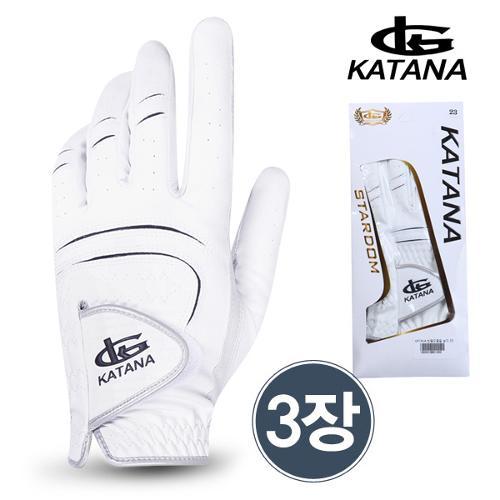 [카타나 정품](3장 1세트)] KATANA 남성 골프장갑(반양피)/골프용품/필드용품