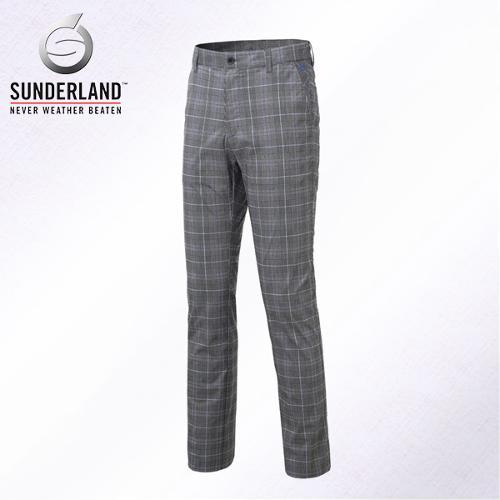 [Sunderland Of Scotland] 선덜랜드 남성 노턱 면 스판소재 체크무늬 골프바지/팬츠 - 16611PT02