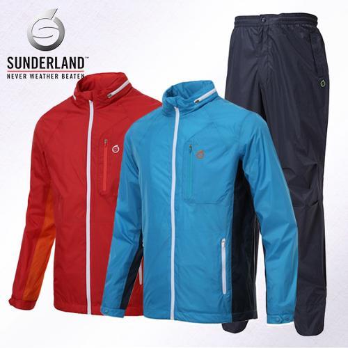 선덜랜드 남성 최고급 완벽방수 패치포인트 방풍 레인자켓/비옷 상하의세트(후드삽입형) - 16511WR03RP02