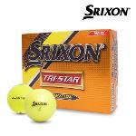 스릭슨 TRI-STAR 트라이스타 골프공 12알 옐로우 Srixon TRI-STAR Tour Yellow 옐로우볼 골프용품 필드용품