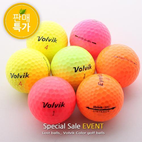 [특가판매] 볼빅 컬러볼 혼합 A급 로스트볼/30알