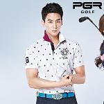 PGR GOLF 남성 포커로고 패턴포인트 기능성 카라 반팔티셔츠 - GT-3092