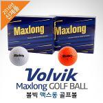 [2016년신상품-국내産]VOLVIK 볼빅골프 정품 Maxlong 맥스롱 골프볼-12알(화이트/오렌지)