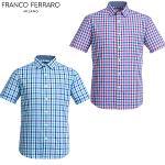 남성 여름 깅엄 체크 셔츠(ASV8204)