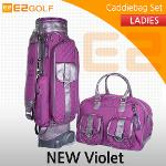 E2골프 2016 NEW CB Violette  바이올렛 여성용 바퀴형 캐디백세트 골프백세트