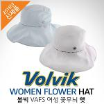 [2016년신제품]VOLVIK 볼빅 VAFS WOMEN FLOWER HAT 여성 꽃무늬 햇 와이드모자