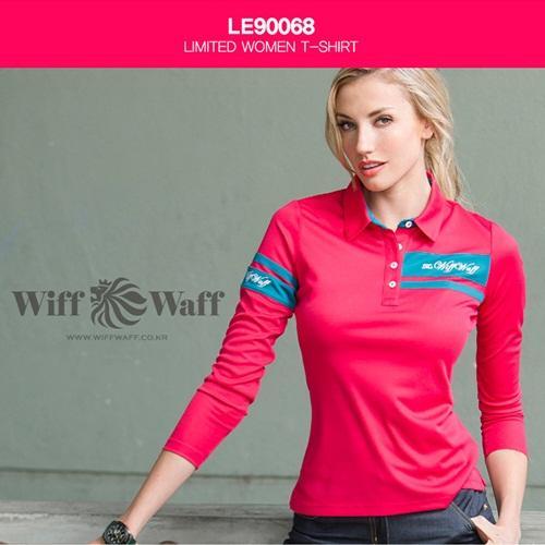 위프와프 골프 여성 긴팔카라셔츠 LE90068