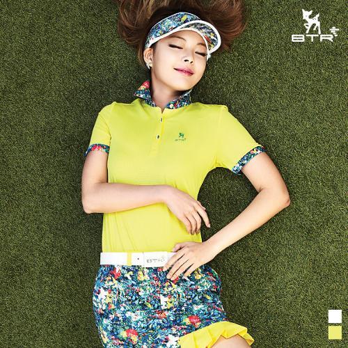 ★추가인하★[BTR] 카라 플라워 포인트 반팔티셔츠 토르(여성) BNT4818W