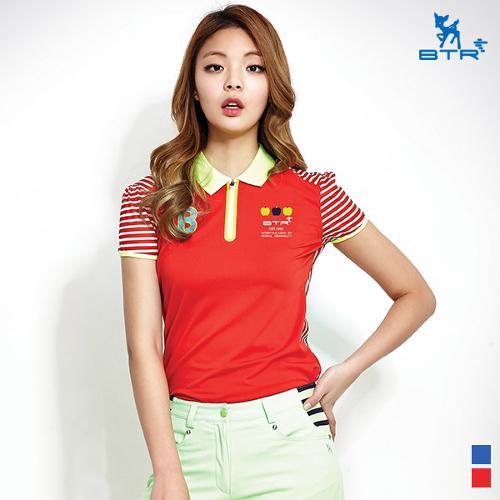 ★추가인하★[BTR] 지퍼 포인트 반팔티셔츠 키세스(여성) BNT4834W
