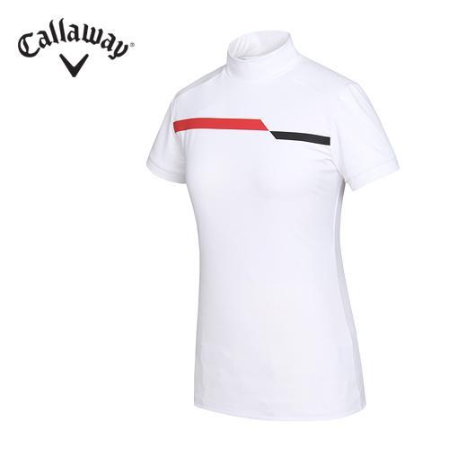 [캘러웨이]16SS 여성 기능성 배색 UV 터틀넥 티셔츠 CWTHF6157-100