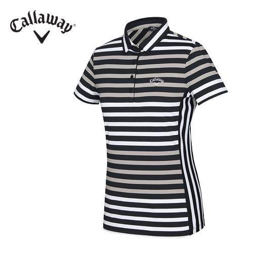 [캘러웨이]16SS 여성 트랜디 스트라이프 티셔츠 CWTYF6194-509
