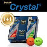 [1+1특가] 볼빅 Crystal 3피스 골프공 1/2 DZ (6알) (옐로우,오렌지,그린,핑크)