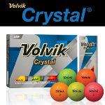 볼빅 Crystal 3피스 골프공 1DZ (12알)(옐로우,오렌지,그린,핑크)