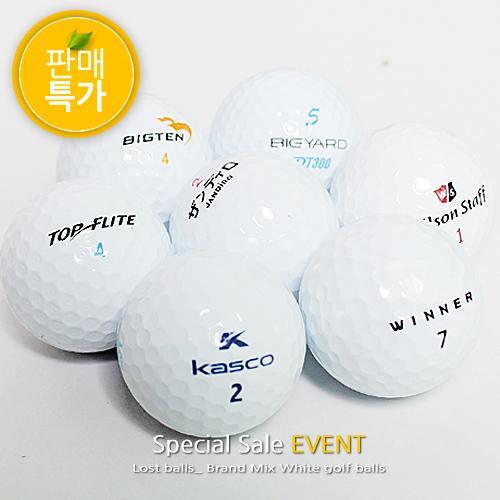 [특가판매] 최상급 A+급20알 브랜드혼합로스트볼 골프공 깨끗한 비재생로스트볼
